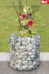 Gabion Virágtartó Zylinder 40 x 40 cm