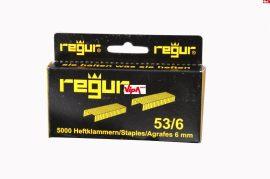 Tűzőkapocs REGUR® 53 Finomhuzal tűzőkapocs 53/6mm 5.000 db/doboz