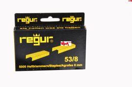 Tűzőkapocs REGUR® 53 Finomhuzal tűzőkapocs 53/8mm 5.000 db/doboz