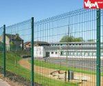 Táblás kerítés oszlop téglalap alakú horganyzott és szinterezett kivitel