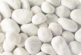 Márvány  díszkavics, Carrara-fehér 40-60mm 25kg kiszerelés