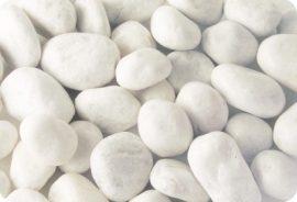 Márvány  díszkavics, Carrarai-fehér 40-60mm 25kg kiszerelés