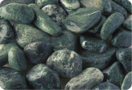 Márvány díszkavics, alpesi zöld 40-60mm 25kg kiszerelés