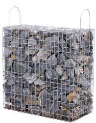 Kész gabion gyárilag feltöltve és tömöritve márványtörmelékből, Duna-kék