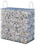 Kész gabion gyárilag feltöltve és tömöritve kvarckavics, hófehér