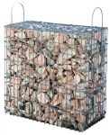Kész gabion gyárilag feltöltve és tömöritve márványtörmelékből, rozé-fehér