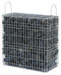 Kész gabion gyárilag feltöltve és tömöritve bazalttörmelékből, fekete