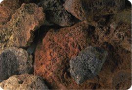 Lávakő, fekete-vörös 50-300 mm
