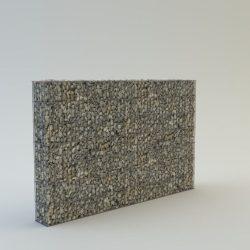 120 cm magas  kerítés komplett gabion fémszerkezet (kő nélkül)