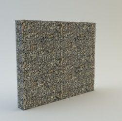180 cm magas  kerítés komplett gabion fémszerkezet (kő nélkül)