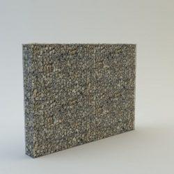 200 cm magas  kerítés komplett gabion fémszerkezet (kő nélkül)