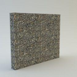 220 cm magas  kerítés komplett gabion fémszerkezet (kő nélkül)