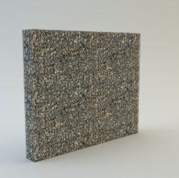 240 cm magas  kerítés komplett gabion fémszerkezet (kő nélkül)