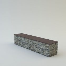 Pad, borovi fenyő ülőfelülettel 40x40x270 3 személyes pad (kő nélkül)