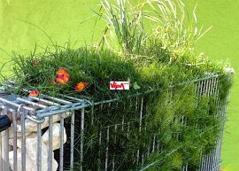 Emelhető zöld gabion box GreenCage