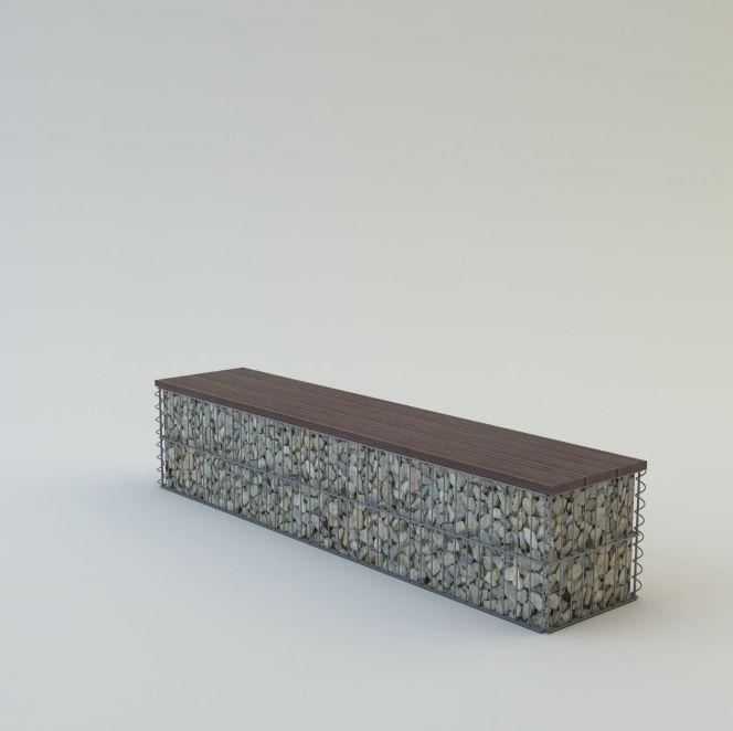 Pad, borovi fenyő ülőfelülettel 40x40x100 kétszemélyes pad (kő nélkül)