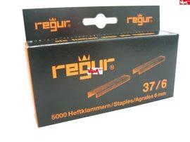 Tűzőkapocs REGUR® 37 Finomhuzal tűzőkapocs 37/6mm 5.000 db/doboz