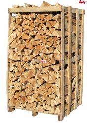 Kalodázott bükk tűzifa hasított, kalodában