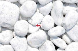 Márvány díszkavics, Carrara-fehér kerekszemcsés 60 – 100 mm