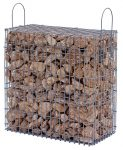 Kész gabion gyárilag feltöltve és tömöritve márványtörmelékből, veronai vörös