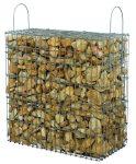 Kész gabion gyárilag feltöltve és tömöritve márványtörmelékből, aranyokker