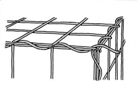 Komplett GABION kosár (hálók, záróhurkok, távtartók)    Rácssűrűség 10 x 10 cm. Mélység 30 cm.