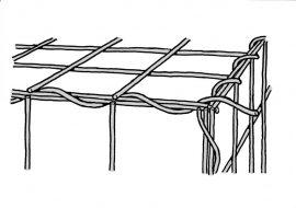 Komplett GABION kosár (hálók, záróhurkok, távtartók)  Rácssűrűség 10 x 10 cm. Mélység 50 cm.