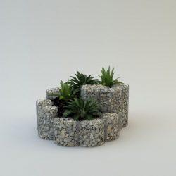 Fűszerspirál 1,5 x 0,6 1,5m átmérőjű szerkezet (kő nélkül)